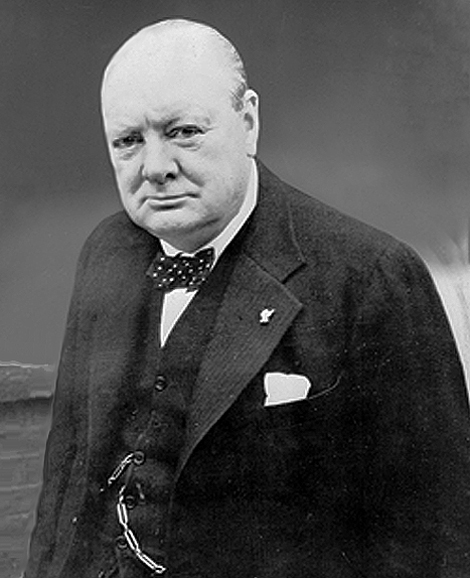 Winston Churchill, photo in public domain