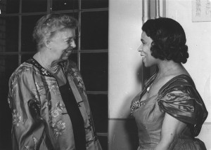 Eleanor Roosevelt with singer Marian Anderson